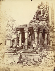 Temple with towered roof, now in ruins, Garhwa, Allahabad District.